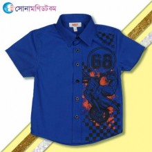 Baby Half Sleeve Shirt - Blue