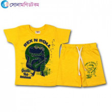 Baby T-Shirt With Shorts Set - Yellow