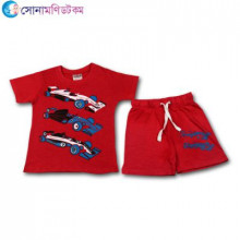 Baby T-Shirt With Shorts Set - Red