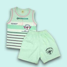 T-shirt with Shorts- Green