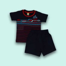 T-shirt with Shorts- Black