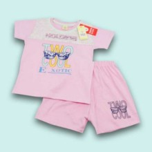 T-shirt with Shorts- Pink