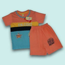 T-shirt with Shorts- Sky Blue