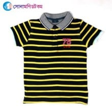 Baby Polo T-Shirt-Black Color