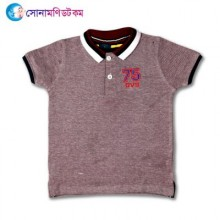 Baby Polo T-Shirt-Light Purple Color