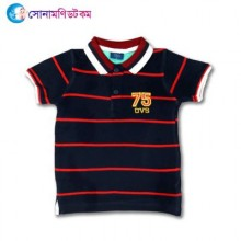 Baby Polo T-Shirt-Navy Blue Color