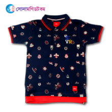 Baby Polo T-Shirt Printed - Navy Blue