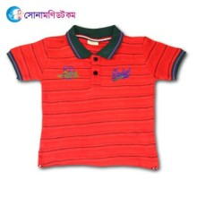 Baby Polo T-Shirt - Red Color