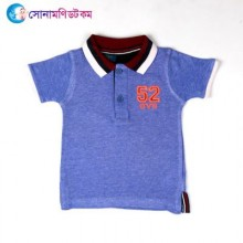 Baby Polo T-Shirt-Violet Color