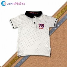 Baby Polo T-Shirt-White Color