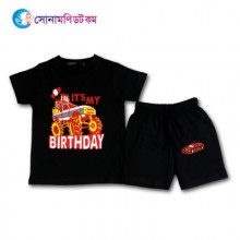 Baby T-Shirt With Shorts Set - Black