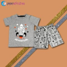 Baby T-Shirt With Shorts Set - Gray