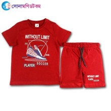 Baby T-Shirt With Shorts Set - Maroon