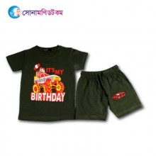 Baby T-Shirt With Shorts Set - Olive