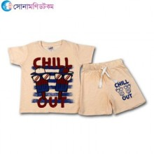 Baby T-Shirt With Shorts Set - Peach