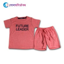 Baby T-Shirt With Shorts Set - Pink