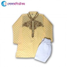 Kids Punjabi & Pajama Set - Golden