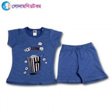 Baby T-Shirt With Shorts Set - Blue