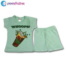 Baby T-Shirt With Shorts Set - Green
