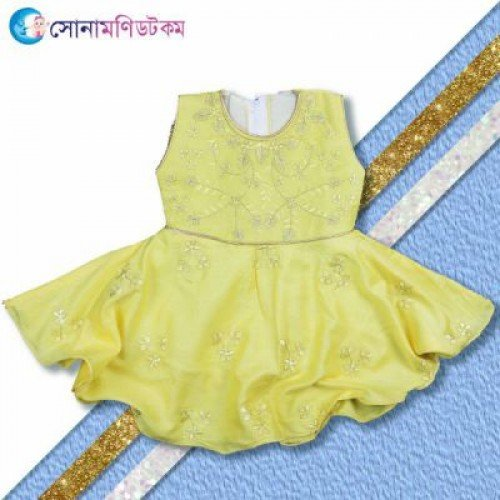 Baby Frock and Shorts Set – Yellow
