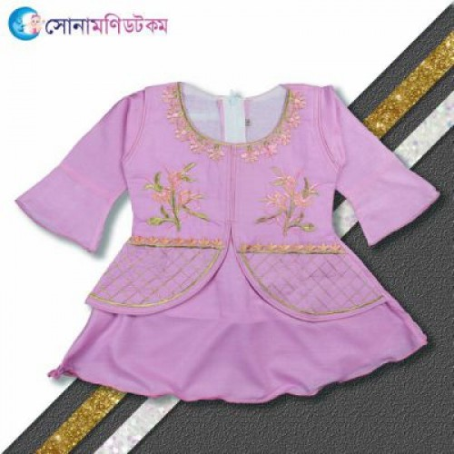 Baby Frock and Shorts Set – Pink
