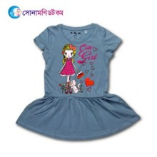 Girls Frock - Gray Color