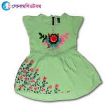 Girls Frock - Light Green Color