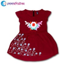 Girls Frock - Maroon Color