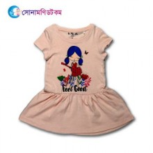 Girls Frock - Peach Color