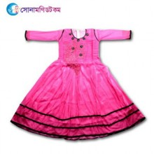 Girls Full Sleeve Frock - Pink