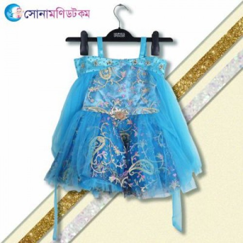 Girls Party Frock - Blue