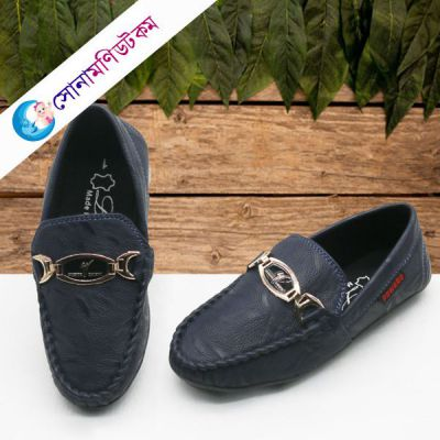 Baby Loafer Shoes - Navy Blue