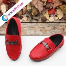 Baby Loafer Shoes - Red