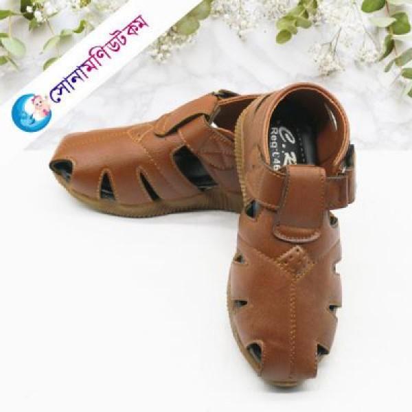 Baby Close Toe Sandal - Chocolate   Sandals   FOOTWEAR at Sonamoni.com