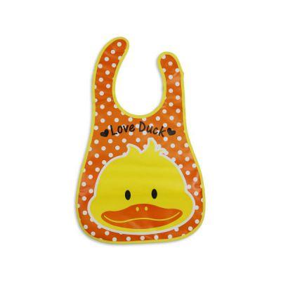 Baby Bibs Love Duck Print - Orange