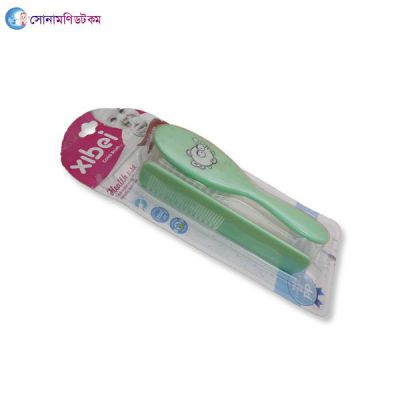 Baby Hair Brush And Comb Set-Green