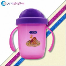 Lion 2 Handle Spill Proof Cup - Pink