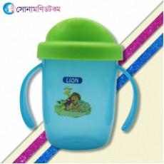 Lion 2 Handle Spill Proof Cup - Blue