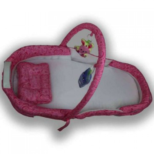 Bed & Mosquito Net Set - Pink
