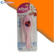 Baby Hair Brush And Comb Set-Pink