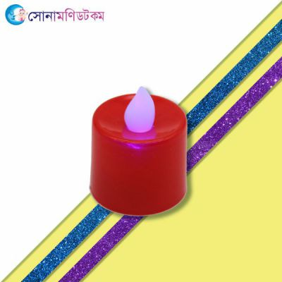 LED Plastic Swinging Candle-RED
