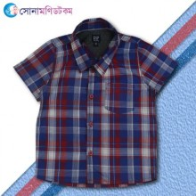 Boys Check Shirt- Blue