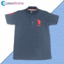 Boys Polo T-shirt- Navy Blue