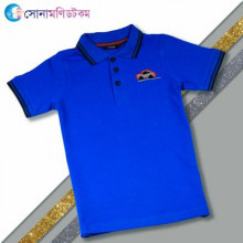 Boys Polo Shirt-Blue