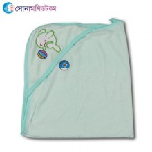 Hooded Baby Towel Dolphin Print - Turquoise