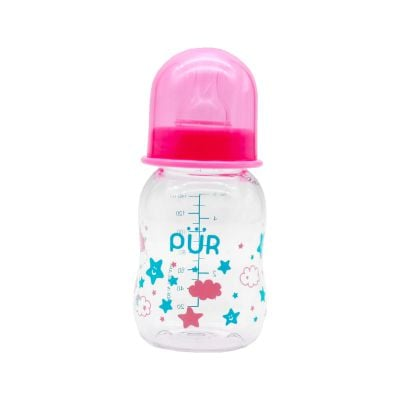 PUR Feeding Bottle 140 ml - Pink