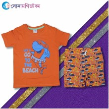 Boys-T-Shirt With Shorts Set