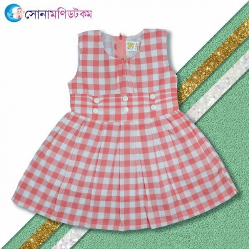 Girls Frock & Pant-Red