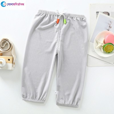 Baby Cotton Silk Trousers - Gray