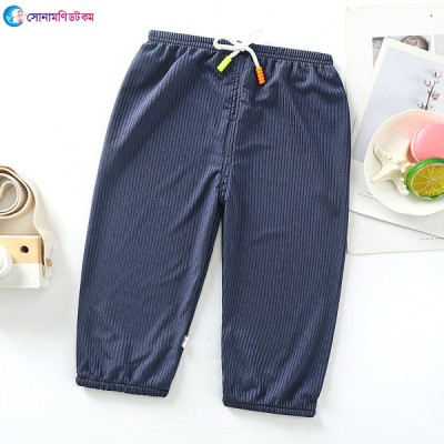 Baby Cotton Silk Trousers - Nevy Blue